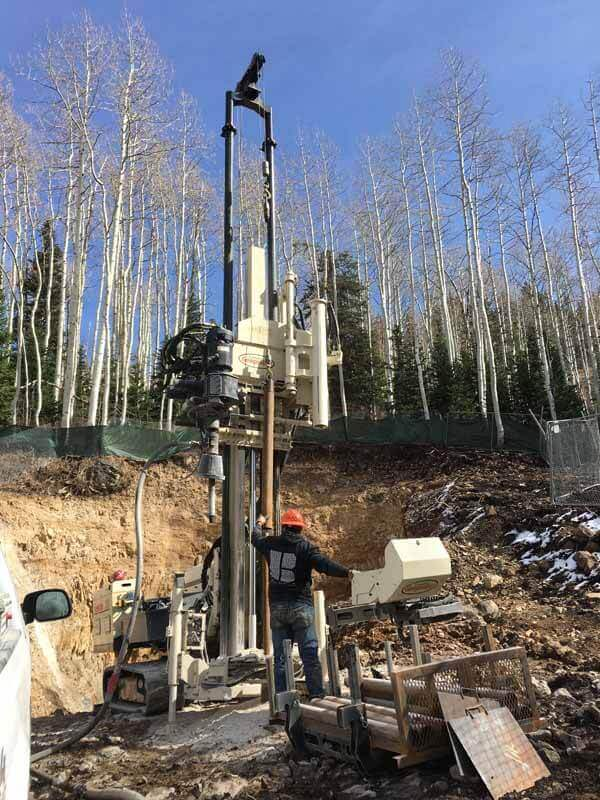 Nate Salazar uses the 3230DT to locate an abandoned mine tunnel below a proposed new hotel project in the Wasatch mountain range east of Salt Lake City.