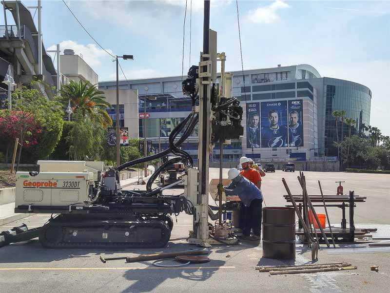 Action Environmental used their 3230DT to complete soil and groundwater sampling needed to assess the properties in downtown Tampa that were planned for future development.