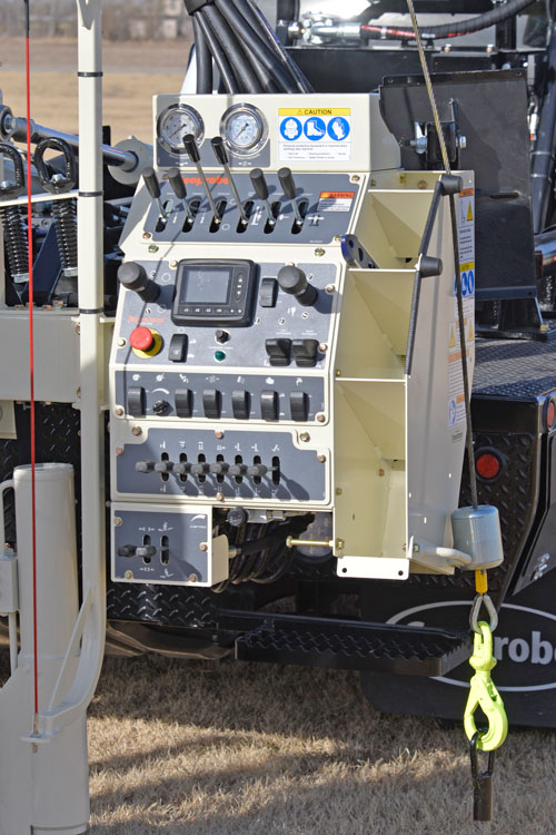 Digital readouts on display simplify training new drillers on 3100GT drilling truck.