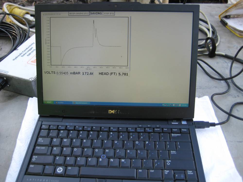 Acquiring a Slug Test Data in the Field