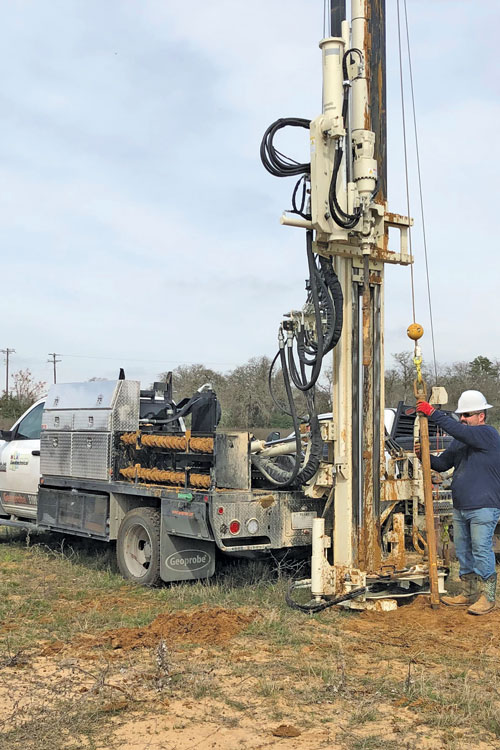 Maneuverability of the comfortable drilling truck under class A/B CDL makes completing forensic geotechnical investigations faster and easier.