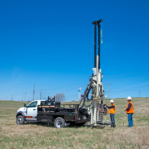 3100GT drilling truck for efficient geotech investigations without requiring a class A/B CDL