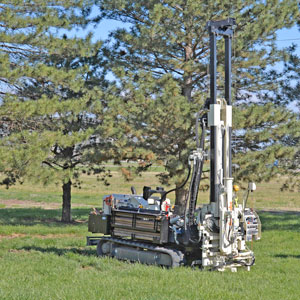 CPT head-feed rate control, including cone overload protection, simplifies CPT testing with 3126GT geotechnical drill.