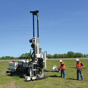 3230DT drill rig efficiently switches from rotary drilling to CPT