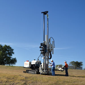 3230DT drill rig combines rotary and direct push functions