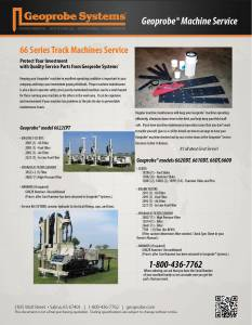 Machine Service for 66 Series Track Machines (6622CPT)
