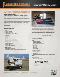 Machine Service for 77 Series Track Machines (7730DT)
