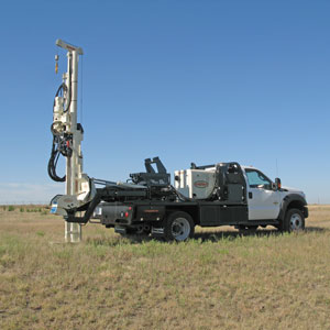 7800 drill truck for direct push power in comfortable chassis