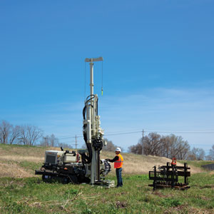 7822DT rotary drilling rigs capability with direct push finesse