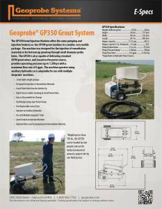 GP350 Grout/Injection Machine E-Specs