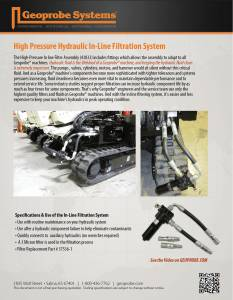 High Pressure Hydraulic In-Line Filtration System