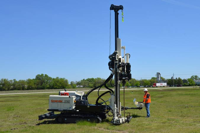 Geotechnical Combo Rig (anchored platform)